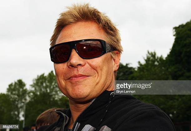 Mika Salo of Finland and Risi Competizione attends at the drivers parade prior to the Le Mans 24h Race on June 12 2009 in Le Mans France