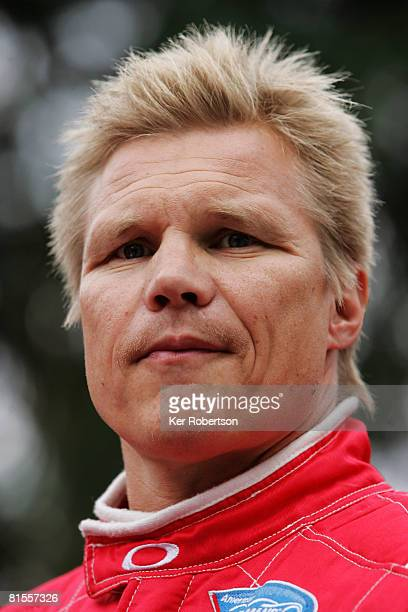 Mika Salo of Finland and Risi Competizione attends the drivers parade in Le Mans town centre prior to the 76th running of the Le Mans 24 Hour race at...