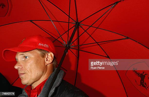 Mika Salo of Finland and the Risi Competizione Team looks on at the Drivers Parade in Le Mans town centre during previews to the Le Mans 24 Hour race...