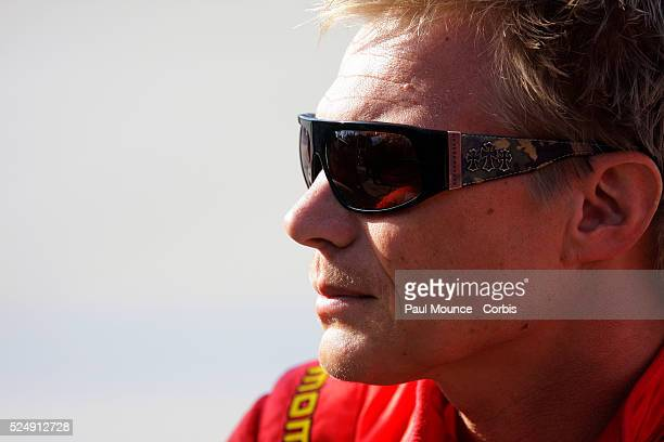 Mika Salo of the Risi Competizione team during practice at the Toyota Grand Prix of Long Beach
