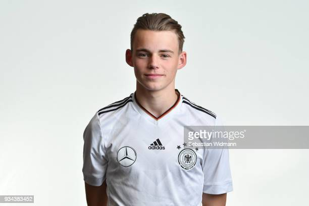 Mika Schroers poses during the U16 Germany Team Presentation on March 19 2018 in Ulm Germany