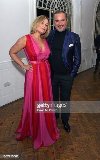 Mika Simmons and Nick Ede attend The Floral Ball 2018 in aid of The Sheba Medical Centre at One Marylebone on November 5 2018 in London England