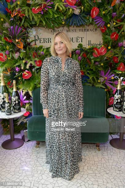 Mika Simmons attends the launch of the PerrierJouet Champagne Terrace at Harrods on March 27 2019 in London England