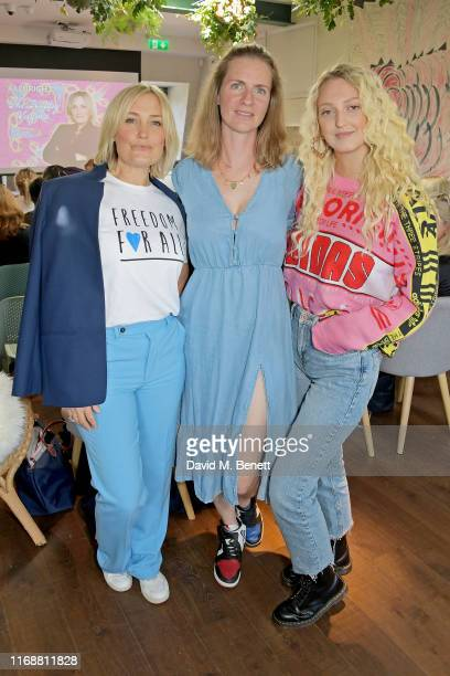 Mika Simmons Chloe Delevingne and Georgia Hirst attend a live recording of Mika Simmons' new podcast The Happy Vagina at The AllBright Mayfair on...