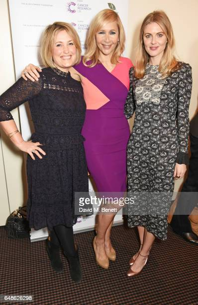 Mika Simmons Tania Bryer and Donna Air attend the 'Turn The Tables' lunch hosted by Tania Bryer and James Landale in aid of Cancer Research UK at...