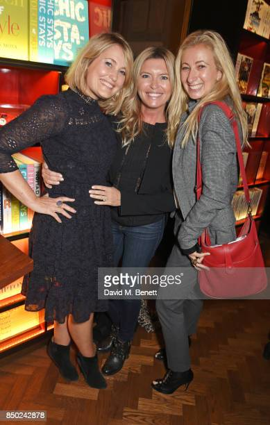 Mika Simmons Tina Hobley and Jenny Halpern Prince attend the launch of new book Journey By Design by Katharine Pooley at Maison Assouline on...