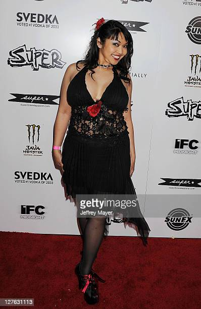 Mika Tan attends the Super Los Angeles Premiere at the Egyptian Theatre on March 21 2011 in Hollywood California