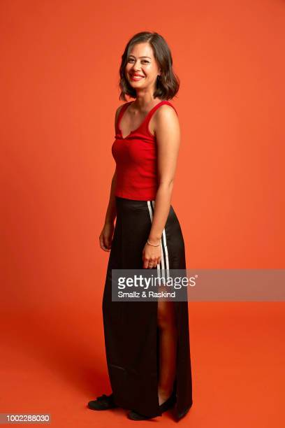 Mika Watkins from YouTube's 'Origin' poses for a portrait in the Getty Images Portrait Studio powered by Pizza Hut at San Diego 2018 Comic Con at...