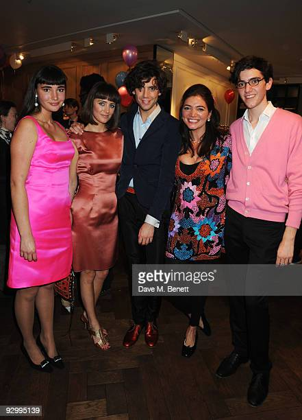 """Mika with his sisters Paloma, Yasmine, Zuleika and brother Fortune Penniman attend a release party for the Mika EP """"Songs Of Sorrow"""" at Lanvin on..."""
