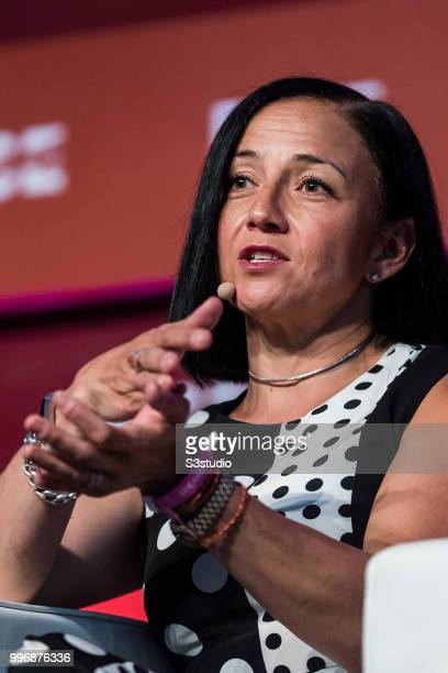 Mika Yamamoto chief digital marketing officer of SAP attends the Day 3 of the RISE Conference 2018 at Hong Kong Convention and Exhibition Centre on...