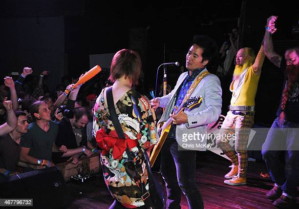Mika Yoshimura of BoPeep Kishi Bashi and PeelanderYellow perform with PeelanderZ at Live Wire on March 26 2015 in Athens Georgia