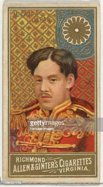 Mikado of Japan, from World's Sovereigns series for Allen & Ginter Cigarettes, 1889. Artist Allen & Ginter.
