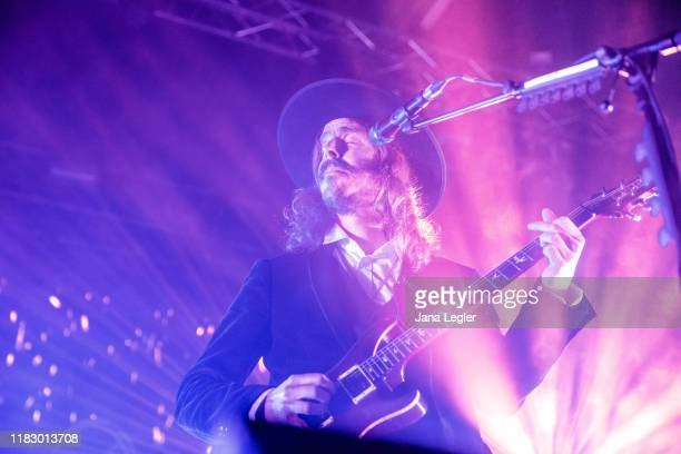 Mikael Akerfeldt of Opeth performs live on stage during a concert at the Huxleys Neue Welt on November 16, 2019 in Berlin, Germany.