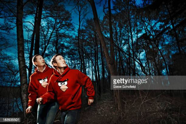 Mikael and Niklaus Hed founders of Rovio the software firm that created Angry Birds are photographed for the Sunday Times magazine on December 19...