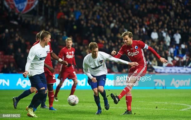 Mikael Antonsson of FC Copenhagen in action during the Danish Cup DBU Pokalen match match between B93 and FC Copenhagen at Telia Parken Stadium on...