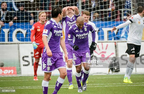 Mikael Boman of IFK Goteborg is dejected during the Allsvenskan match between Orebro SK and IFK Goteborg at Behrn Arena on April 24 2016 in Orebro...