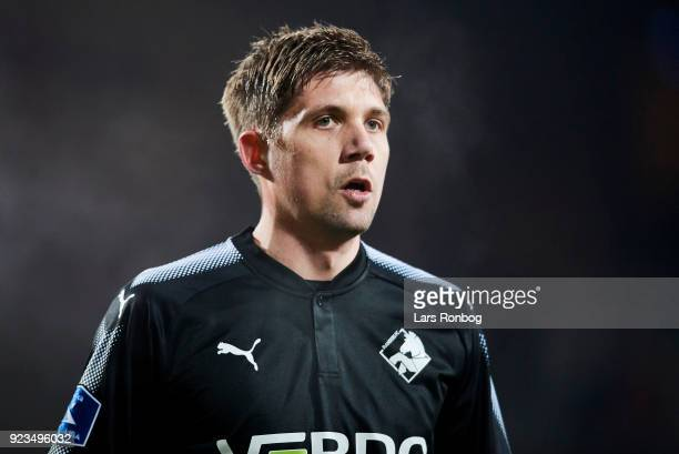 Mikael Boman of Randers FC looks on during the Danish Alka Superliga match between AC Horsens and Randers FC at CASA Arena Horsens on February 23...