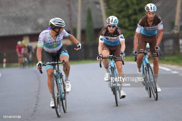 Mikael Cherel of France and Team Ag2R La Mondiale / Alexey Lutsenko of Kazahkstan and Astana Pro Team / Jan Bakelants of Belgium and Team Ag2R La...