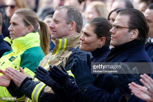 Mikael Ekfeldt Victoria Crown Princess of Sweden and Prince Daniel Duke of Vastergotland attend a tribute to victims of Stockholm terrorist attack on...