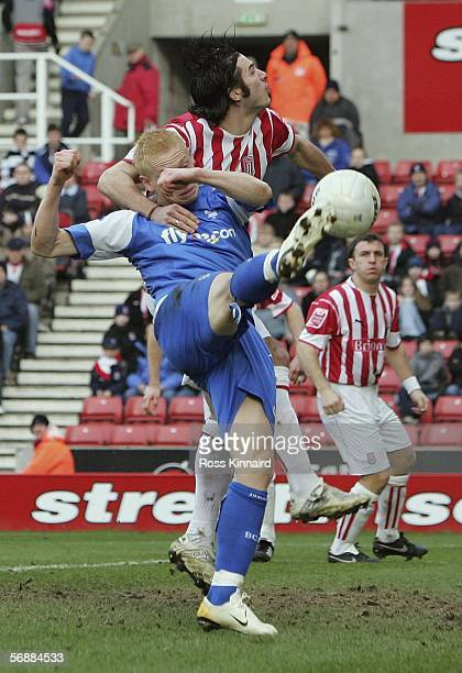 Mikael Forssell of Birmingham scores the opening goal during the 5th round FA Cup tie between Stoke City and Birmingham City at the Britannia Stadium...