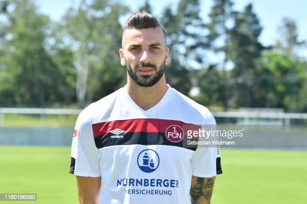 Mikael Ishak of 1. FC Nürnberg poses during the team presentation at Sportpark Valznerweiher on July 04, 2019 in Nuremberg, Germany.