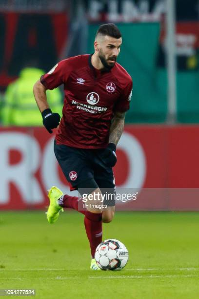 Mikael Ishak of 1 FC Nuernberg controls the ball during the DFB Cup match between Hamburger SV and 1 FC Nuernberg at Volksparkstadion on February 5...