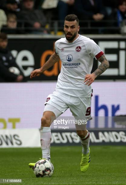 Mikael Ishak of 1. FC Nuernberg controls the ball during the Bundesliga match between Eintracht Frankfurt and 1. FC Nuernberg at Commerzbank Arena on...
