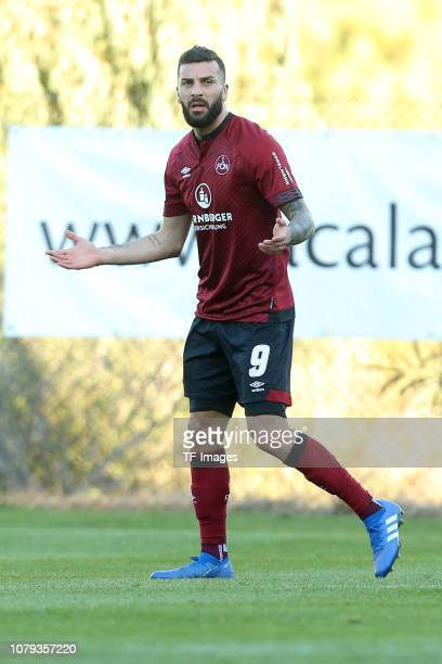 Mikael Ishak of 1 FC Nuernberg gestures during the test match between 1 FC Nuernberg and of PEC Zwolle as part of the training camp on January 7 2019...