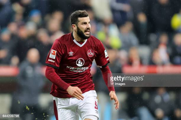 Mikael Ishak of 1 FC Nuernberg looks on during the Second Bundesliga match between TSV 1860 Muenchen and 1 FC Nuernberg at Allianz Arena on February...