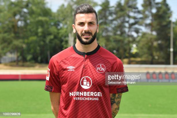 Mikael Ishak of 1 FC Nuernberg poses during the team presentation at Sportpark Valznerweiher on July 16 2018 in Nuremberg Germany