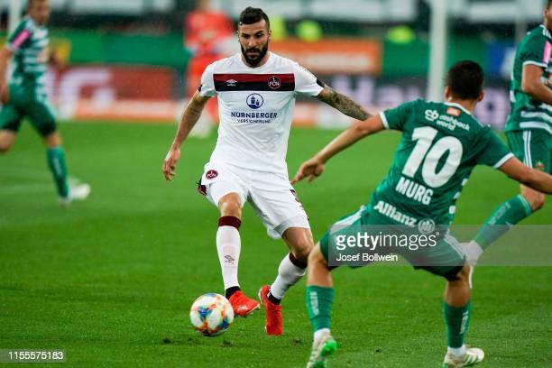 Mikael Ishak of 1.FC Nuernberg during the Pre-Season Friendly Match between Rapid Wien and 1. FC Nuernberg at Allianz Arena on July 14, 2019 in...
