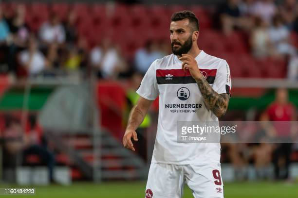 Mikael Ishak of FC Nuernberg looks on during the DFB Cup first round match between SV Sandhausen and Borussia Moenchengladbach at Audi Sportpark on...