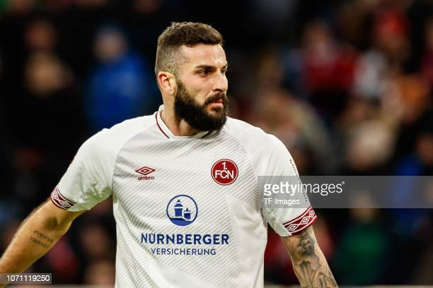 Mikael Ishak of Nuernberg looks on during the Bundesliga match between FC Bayern Muenchen and 1 FC Nuernberg at Allianz Arena on December 8 2018 in...