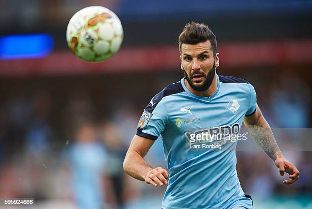 Mikael Ishak of Randers FC in action during the Danish Alka Superliga match between Randers FC and Silkeborg IF at NioNutria Park on August 26 2016...