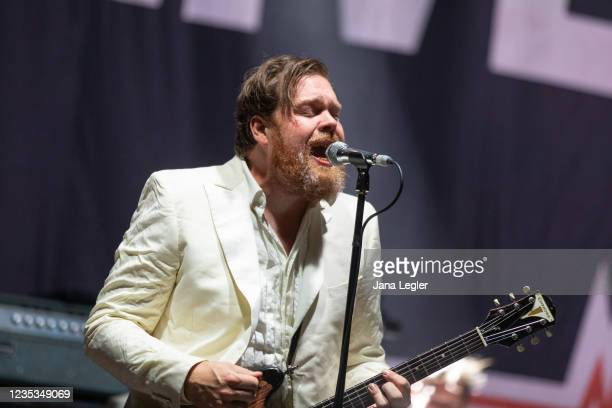 September 18: Mikael Karlsson Åström of The Hives performs live on stage during day 2 of Pure & Crafted Festival in Berlin on September 18, 2021 in...