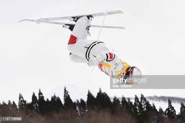 Mikael Kingsbury of Canada competes during day two of the Men's FIS Freestyle Skiing World Cup Tazawako on February 24 2019 in Senboku Akita Japan