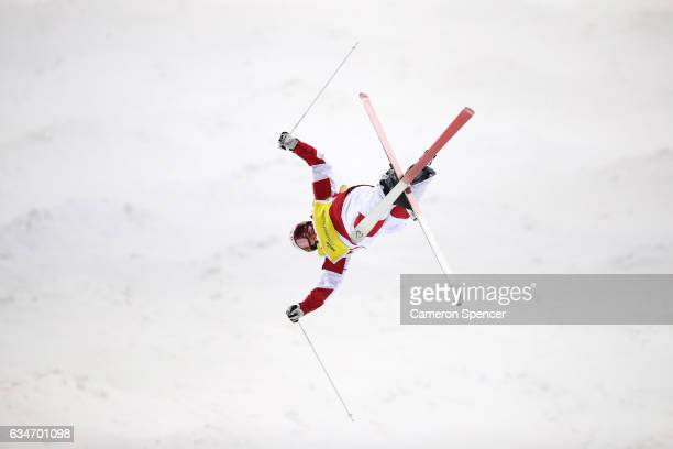 Mikael Kingsbury of Canada competes in the FIS Freestyle Ski World Cup 2016/17 Mens Moguls Final at Bokwang Snow Park on February 11 2017 in...