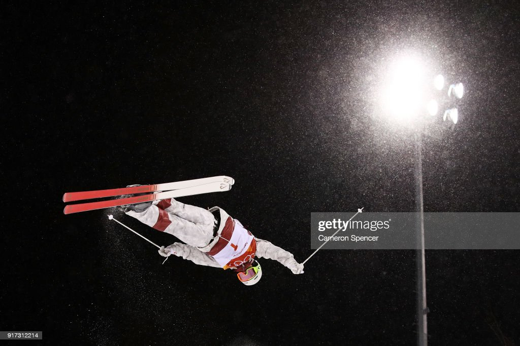 Mikael Kingsbury of Canada competes in the Freestyle Skiing Men's Moguls Final on day three of the PyeongChang 2018 Winter Olympic Games at Phoenix Snow Park on February 12, 2018 in Pyeongchang-gun, South Korea.