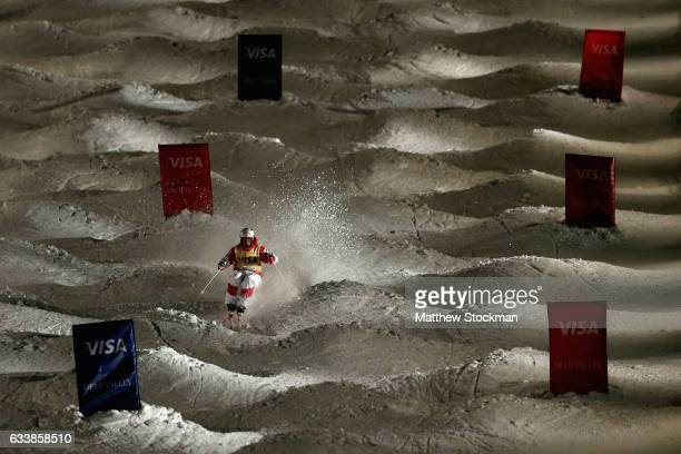 Mikael Kingsbury of Canada competes in the Men's Dual Moguls during the FIS Freestyle World Cup at Deer Valley Resort on February 4 2017 in Park City...