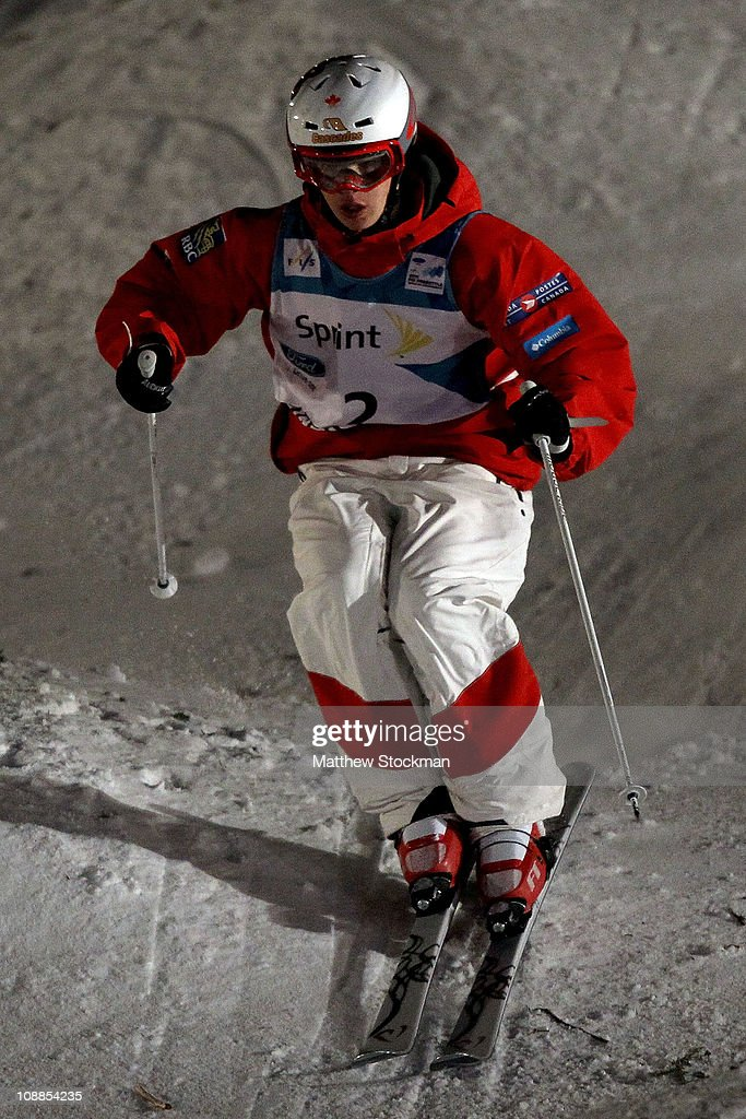 Mikael Kingsbury of Canada competes in the men's Dual Moguls finals at the FIS Freestyle World Championships at Deer Valley Resort on February 5, 2011 in Park City, Utah.