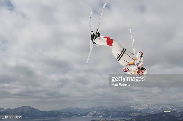 Mikael Kingsbury of Canada during day two of the Men's FIS Freestyle Skiing World Cup Tazawako on February 24 2019 in Senboku Akita Japan