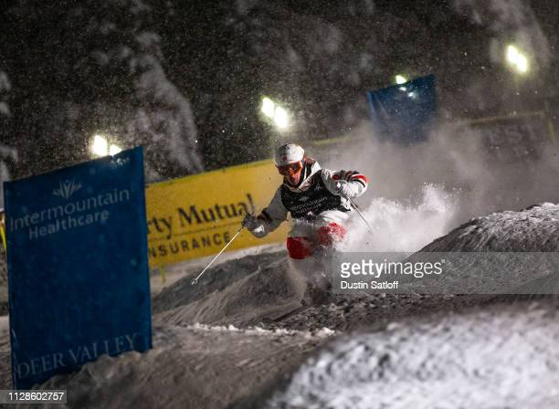 Mikael Kingsbury of Canada during his eight final race during the Men's Dual Moguls Final of the FIS Freestyle Ski World Championships on February 9...