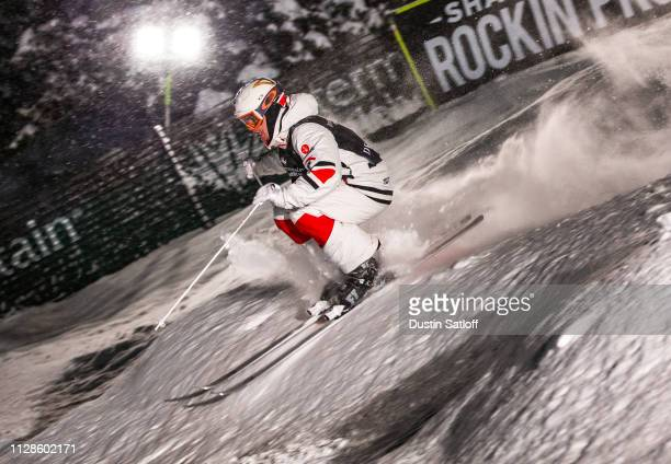 Mikael Kingsbury of Canada during his semifinal race during the Men's Dual Moguls Final of the FIS Freestyle Ski World Championships on February 9...