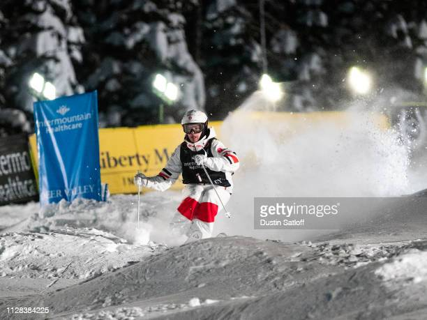 Mikael Kingsbury of Canada during the Men's Moguls Final of the FIS Freestyle Ski World Championships on February 8 2019 at Deer Valley Resort in...