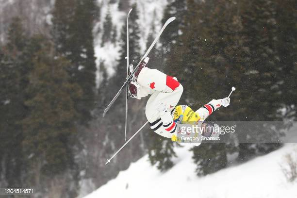 Mikael Kingsbury of Canada during the Mens Moguls qualification practice at the FIS Freestyle Ski World Cup on February 06, 2020 in Park City, Utah.
