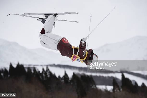 Mikael Kingsbury of Canada during training on day two of the FIS Freestyle Skiing World Cup Tazawako at Tazawako Ski Resort on March 4 2018 in...