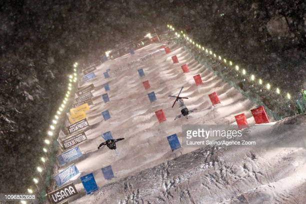 Mikael Kingsbury of Canada takes 1st place, Bradley Wilson of USA wins the silver medal during the FIS World Freestyle Ski Championships Men's and...