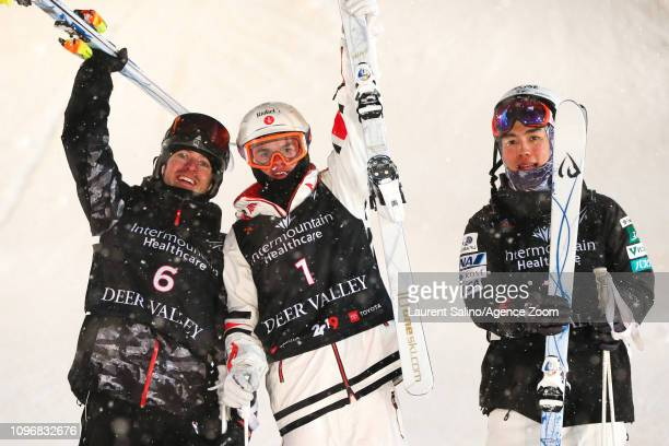 Mikael Kingsbury of Canada wins the gold medal Bradley Wilson of USA wins the silver medal Daichi Hara of Japan wins the bronze medal during the FIS...