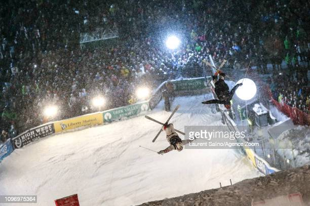 Mikael Kingsbury of Canada wins the gold medal Casey Andringa of USA competes during the FIS World Freestyle Ski Championships Men's and Women's Dual...