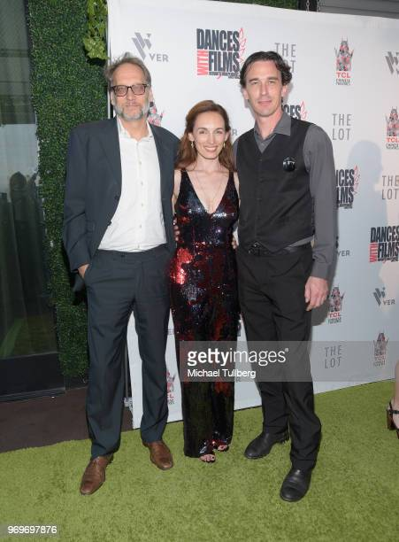 Mikael Kreuzriegler Allison Marie Volk and Colin Martin attend the opening night of the 21st Annual Dances With Films Film Festival at TCL Chinese 6...